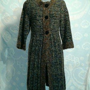 Anthropologie Curio long sweater jacket 3/4 sleeve